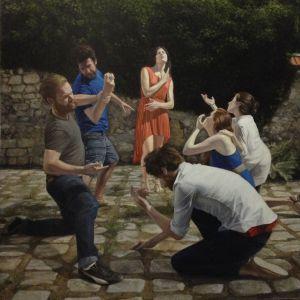 Bir Fahişenin Taşlanması - Adam Cross - Yağlıboya Kanvas