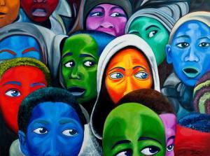 Resim : Hepsi Bizim Çocuklarımız (ALL Our Children) - Carla Foster - Kumaş ve ahşap üzeri yağlıboya