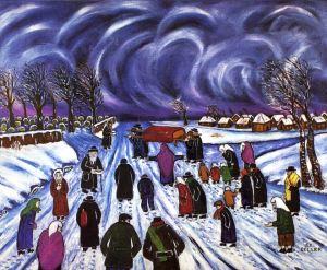 Resim : Cenaze (Похороны) - İleks Beller, kanvas üzeri yağlıboya