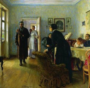 Beklemiyorlardı (Не ждали) - İlya Repin - 1884