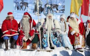 Soldan Sağa : Papakayne, Noel Baba, Ayaz Ata, Kar Kız, Ded Maroz.. Halkıın umudunun olduğu yerde o umudun kahramanları da vardır.
