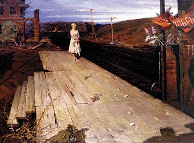 Waiting 1945 – Ivan Babenko – Oil on Canvas 123×167 cm (1975-85)