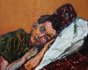 Uykusuz - Fabrizio D'Andrea, İtalya - Yağlıboya kanvas