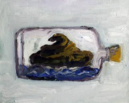 Shit in a bottle - John Kilduff , ABD- Y.boya Kanvas